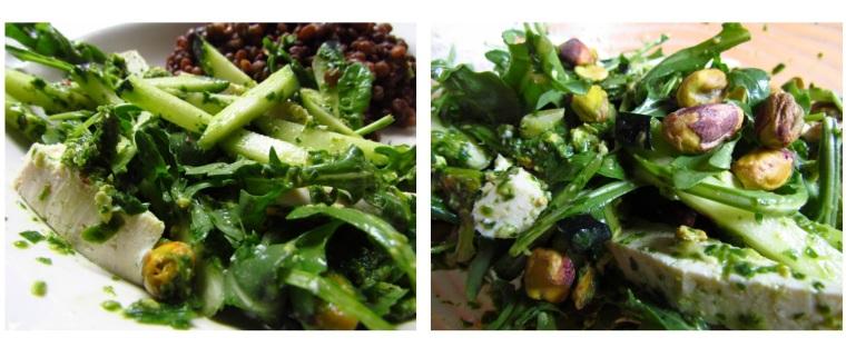 Arugula pesto salad
