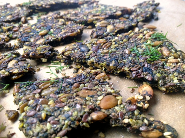 #seed crackers with dill