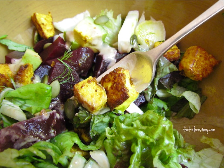 summer salad with turmeric tofu5