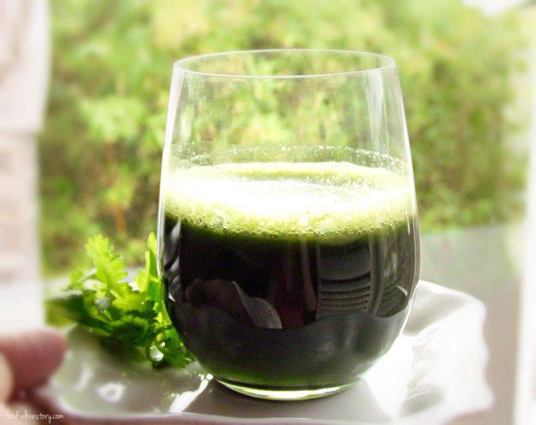 cilantro detox juice