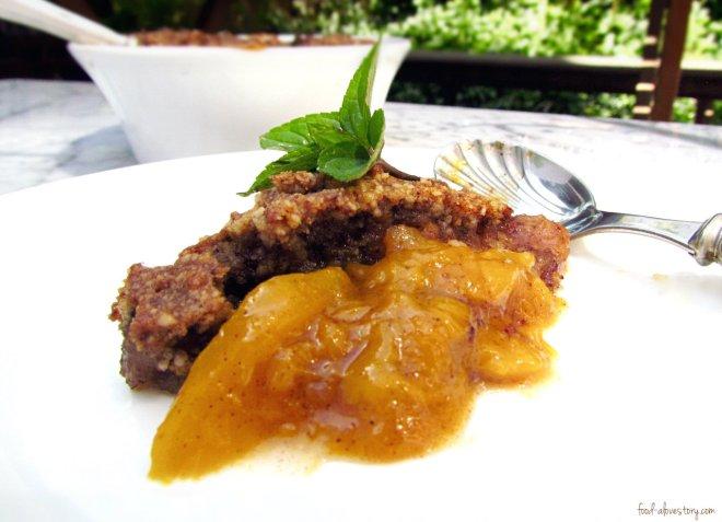 healthy mango coconut cobbler