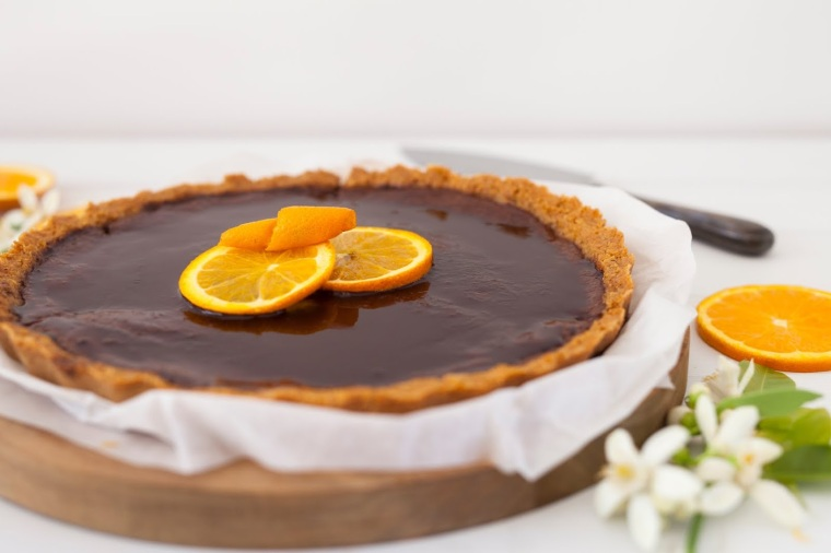 Melissa Ambrosini Chocolate Orange Tart